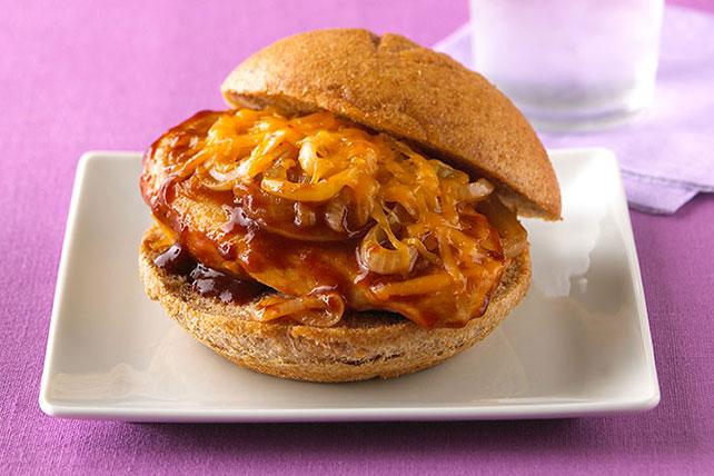 Cheesy BBQ Chicken Sandwiches