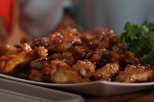 Ashley and Whitney's Honey BBQ Wings