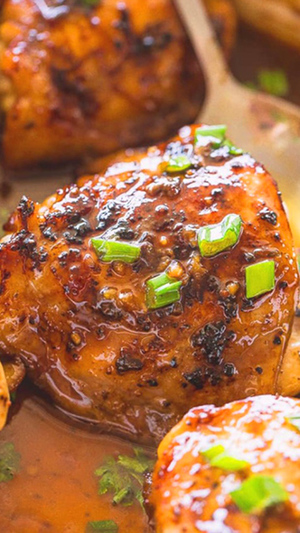 Marinated Oven Baked Chicken Thighs
