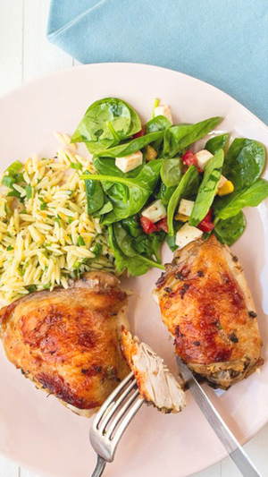 Greek Roasted Chicken Thighs