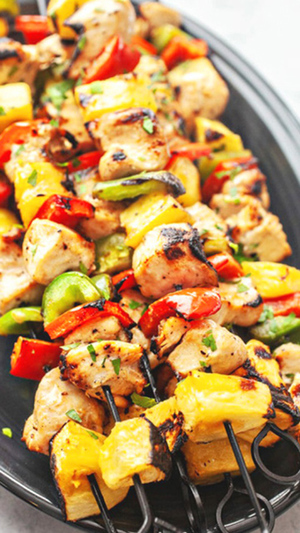 Chicken and Pineapple Kabobs