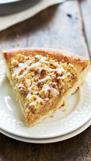 Deep Dish Cinnamon Streusel Dessert Pizza